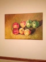 acrylic apple still life
