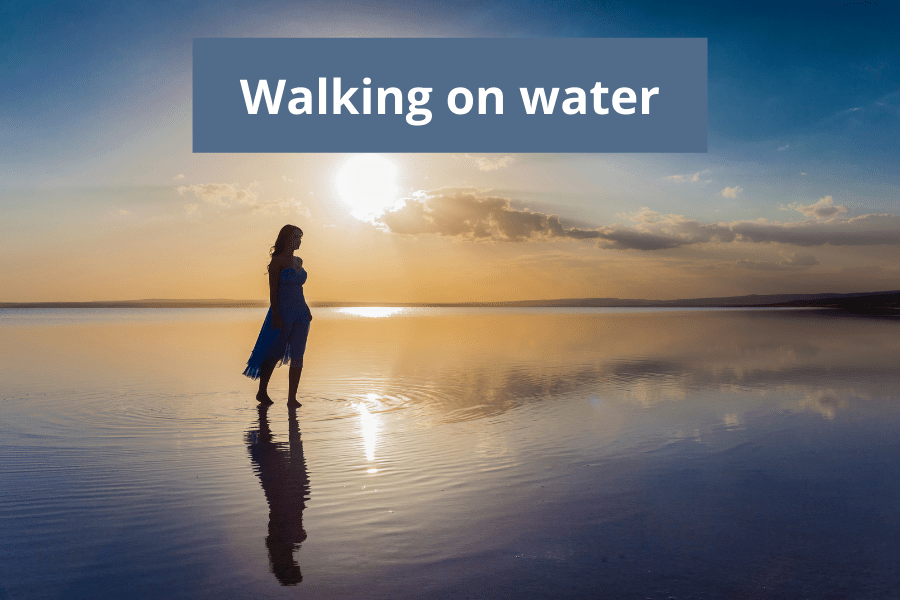 Rising above the ocean, walking on water