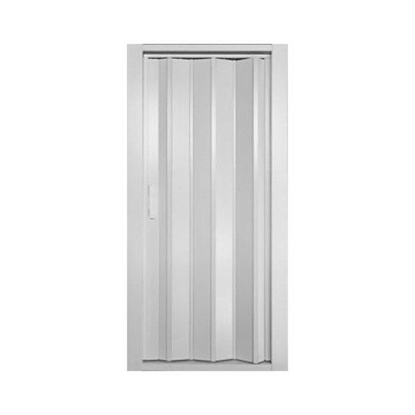 Puerta plegable blanca