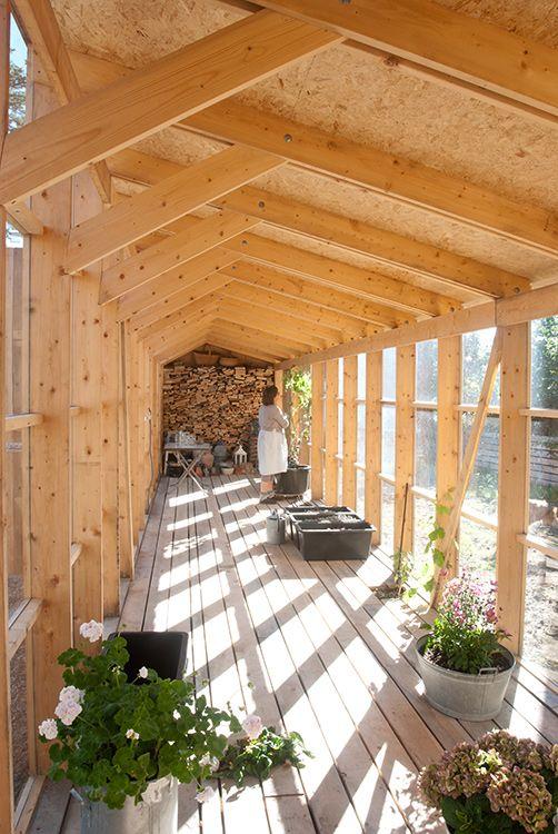 imagenes de techo de madera a dos aguas
