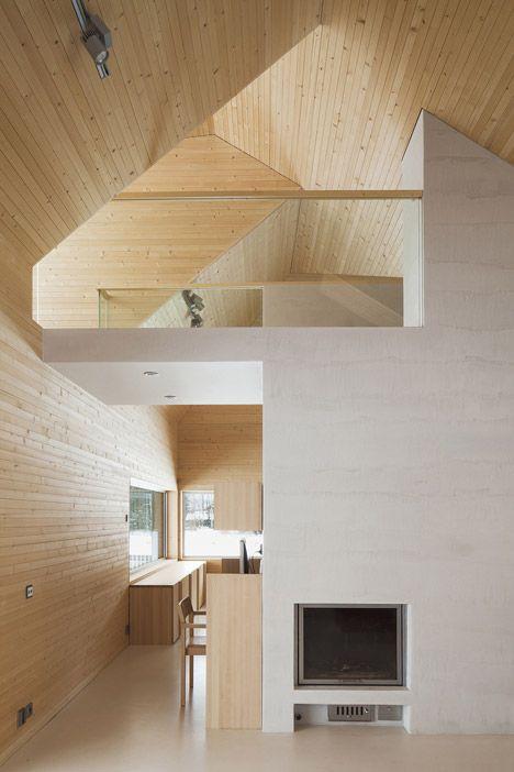 moderno techo de madera