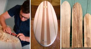 madera tabla de surf
