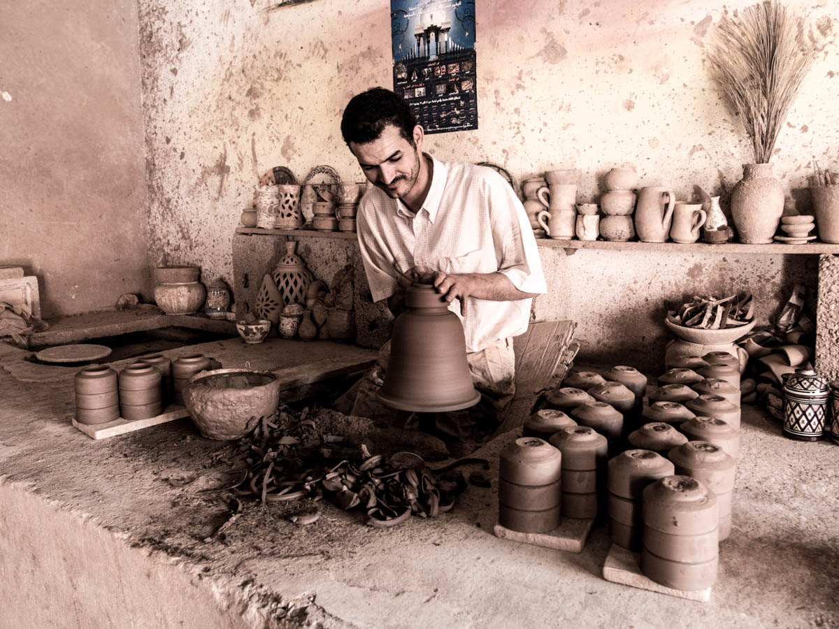 Moroccan ceramic maker