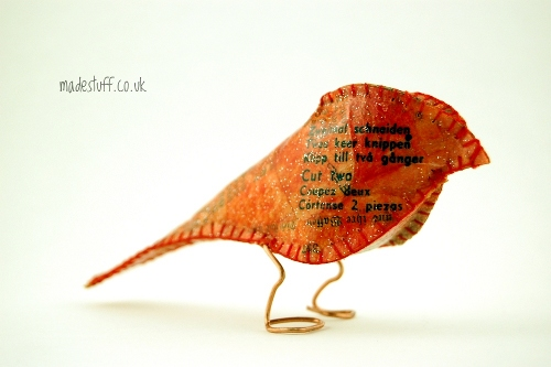 Paper fabric finch