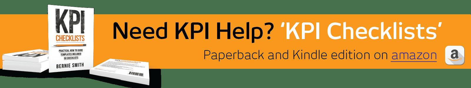 Need KPI help - KPI Checklists book