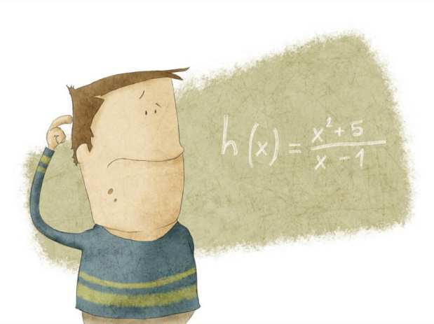 a Boy looking at math problem and think in it
