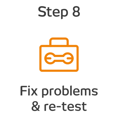 ROKET-DS Step 9 - Fix problems and re-test