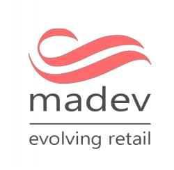 madev logo bianco