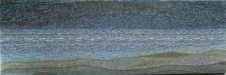 """Annette Wiegand """"Vor dem Gewitter"""" (2015, 120x40 cm)"""
