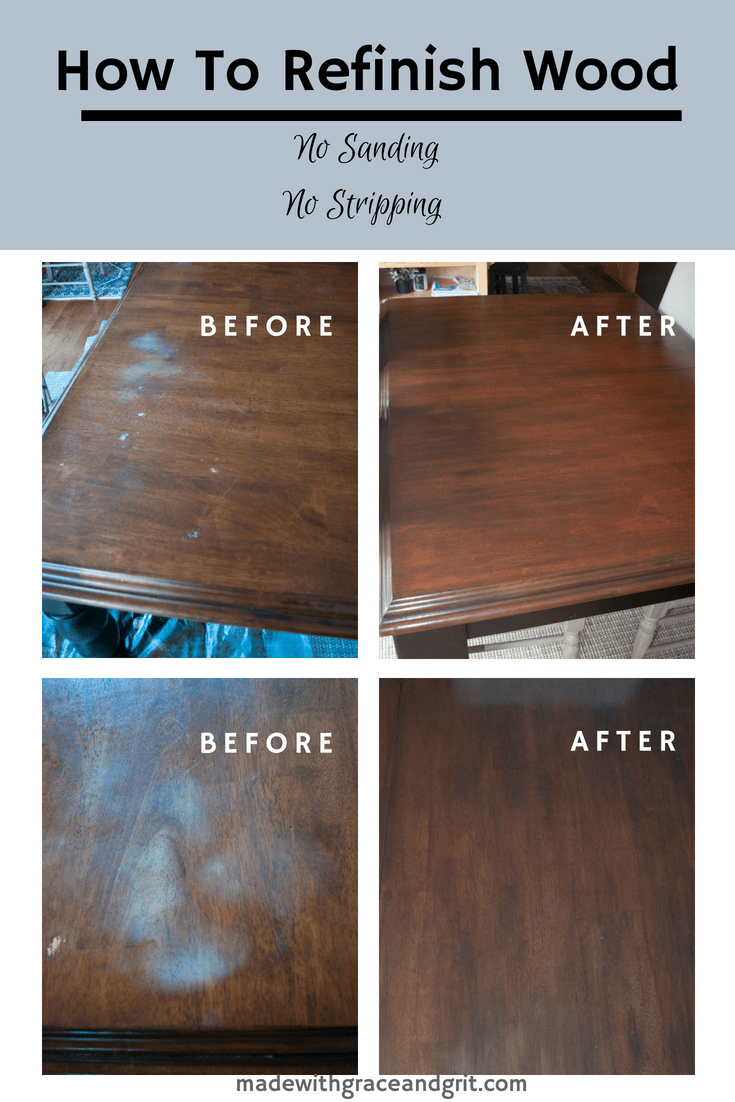 How To Easily Refinish Furniture Made With Grace And Grit