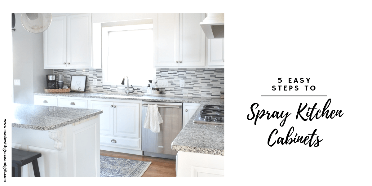 Diy Spraying Kitchen Cabinets Like A, Is It Better To Spray Or Paint Kitchen Cabinets
