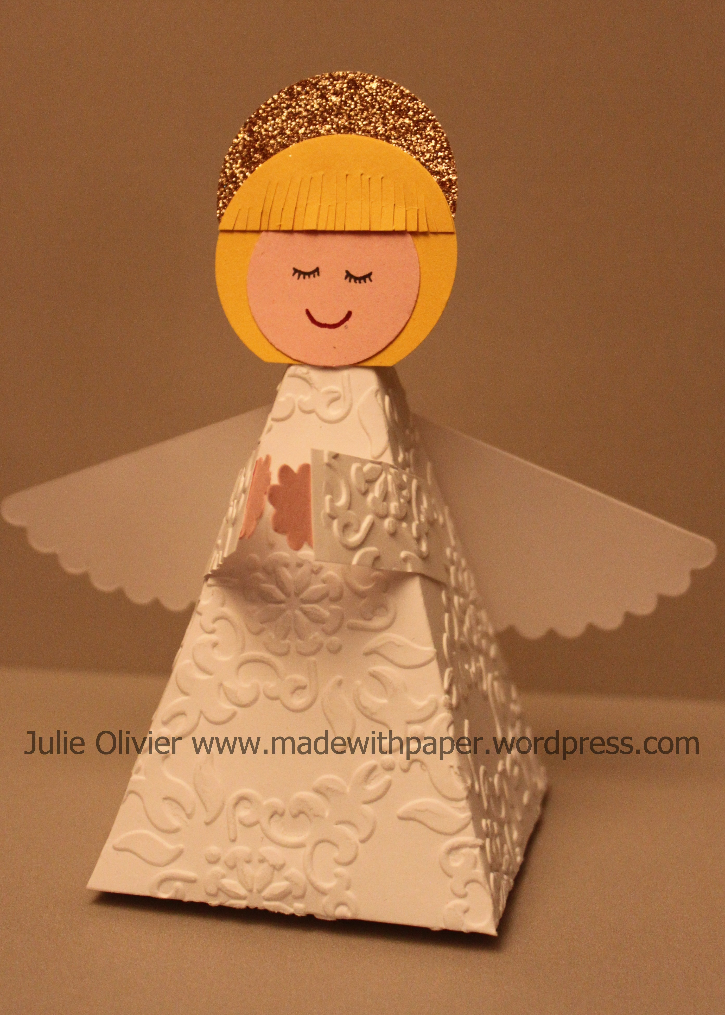 Children Project Angel Petal Cone Made With Paper