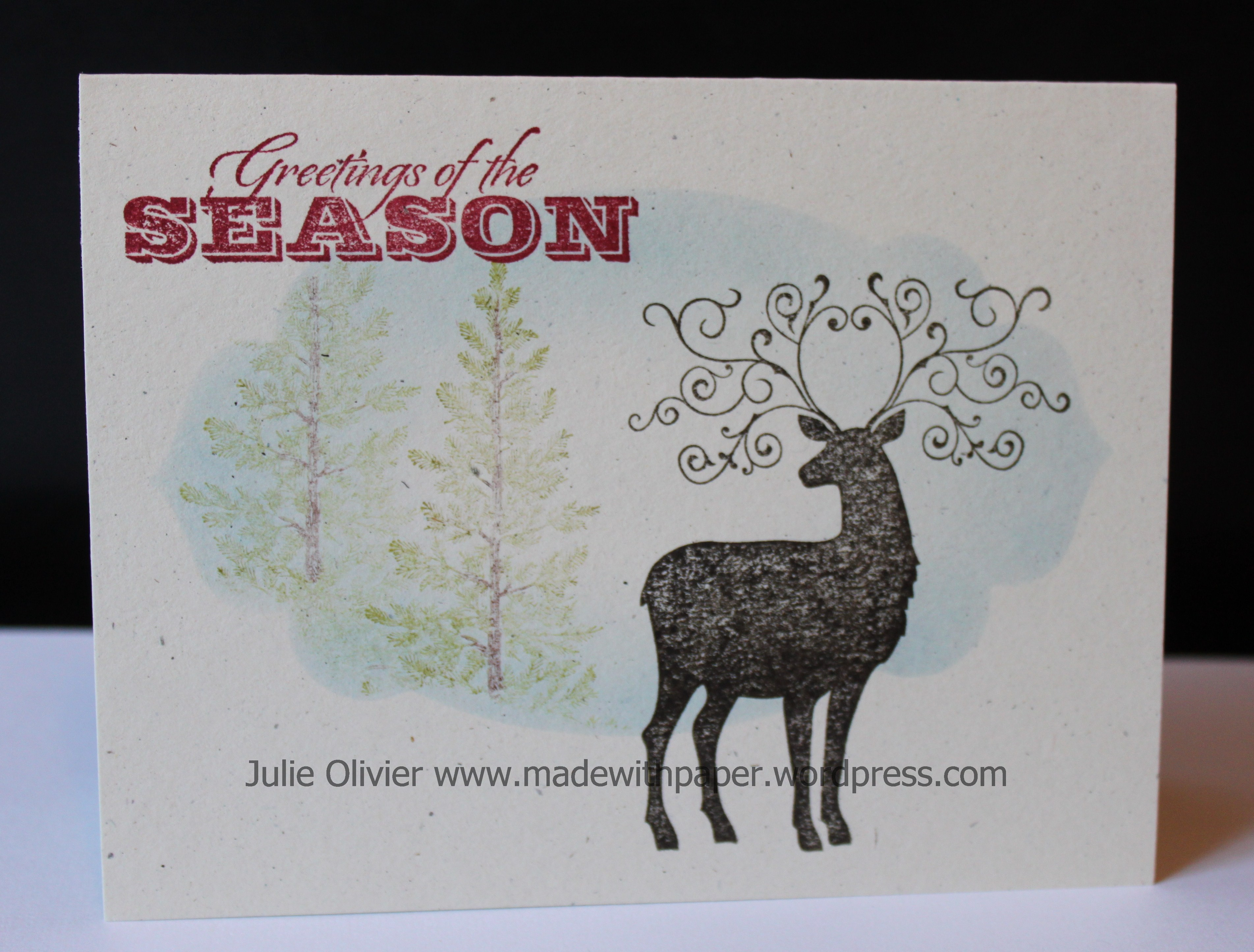 One Layer Christmas Cards Made With Paper