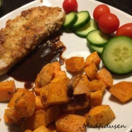 Sweet Potato and schnitzel