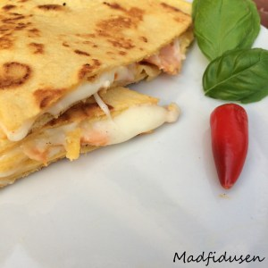 Quesadillas - salmon and cheese