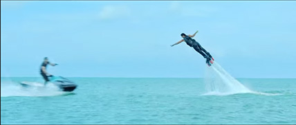 Image result for hrithik water stunt in bang bang