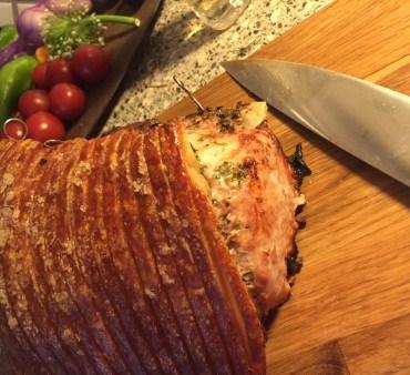 Flæskesteg med friske krydderurter – Porchetta