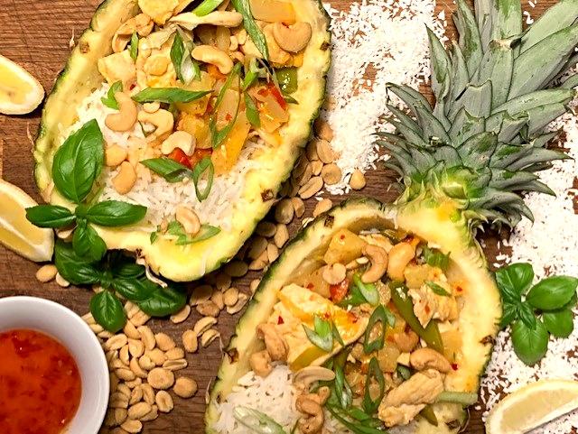 Eksotisk og vietnamesisk kylling i kokos
