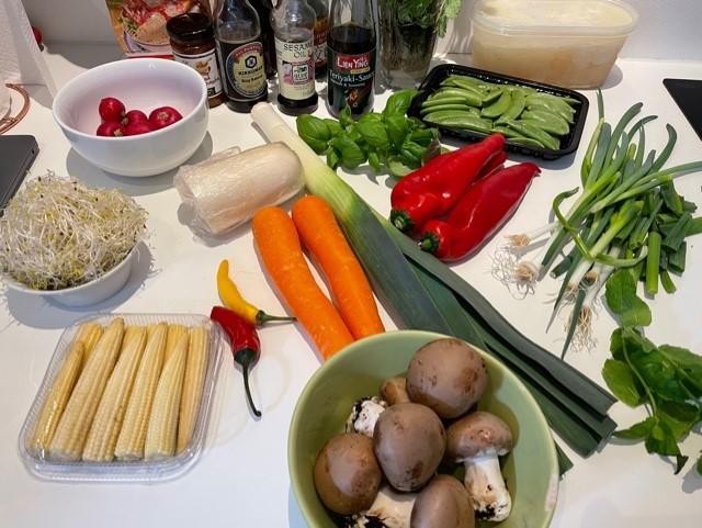 Ingredienser til ramen