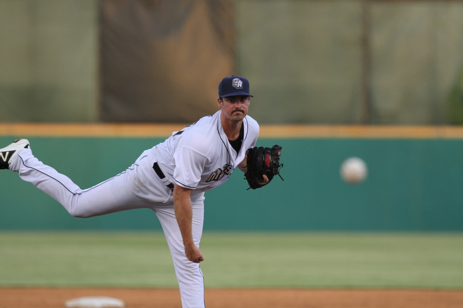 Padres prospect Jake Nix pitches for San Antonio Missions