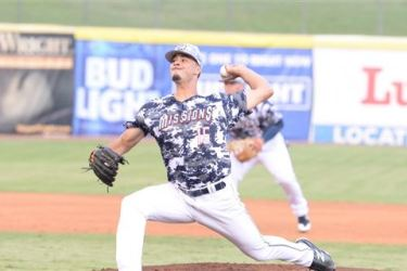 Joey Lucchesi pitches for the San Antonio Missions