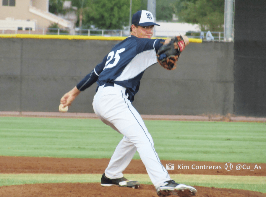 MacKenzie Gore pitching for the San Diego Padres