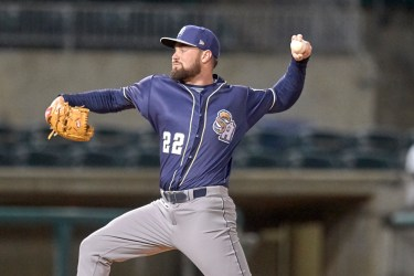 San Diego Padres pitching prospect Logan Allen pitching for San Antonio Missions