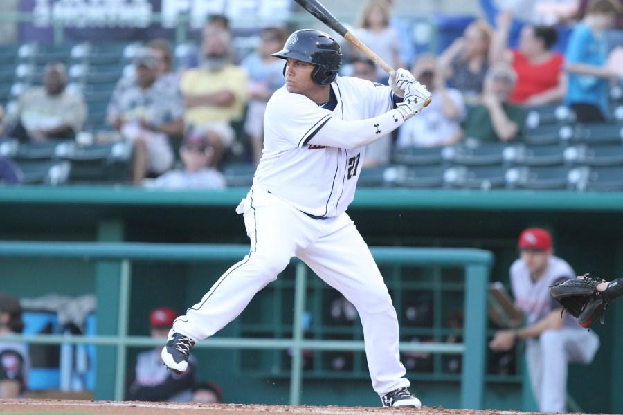 Padres prospect Josh Naylor swings for San Antonio Missions