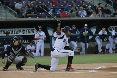 Padres prospect Buddy Reed bats for Lake Elsinore Storm