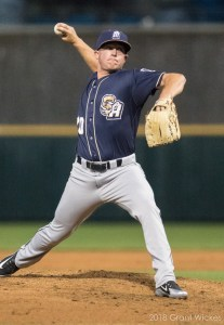 San Diego Padres prospect Jason Jester pitching for San Antonio Missions