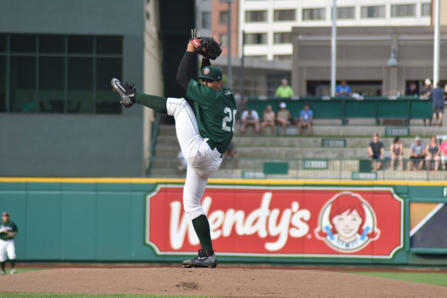 San Diego Padres prospect Luis Patiño pitching for Fort Wayne TinCaps""