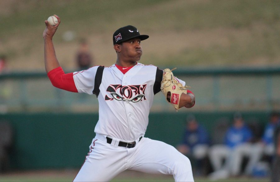 Padres prospect Ronald Bolaños pitches for Lake Elsinore Storm