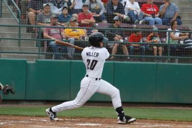 Padres prospect Owen Miller bats for Tri-City Dust Devils