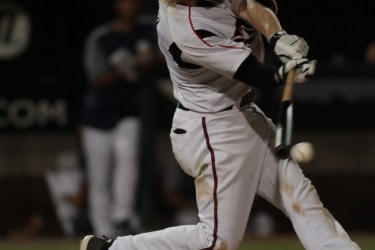 Padres prospect Chris Baker bats for Lake Elsinore Storm