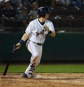 Nick Gatewood, San Diego Padres prospect batting for Tri-City Dust Devils