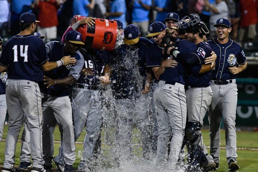 San Antonio Missions celebrate winning the Texas League Division Series