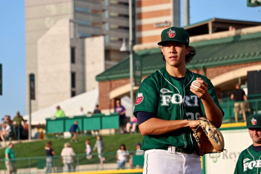 Joey Cantillo, San Diego Padres prospect pitching with Fort Wayne TinCaps