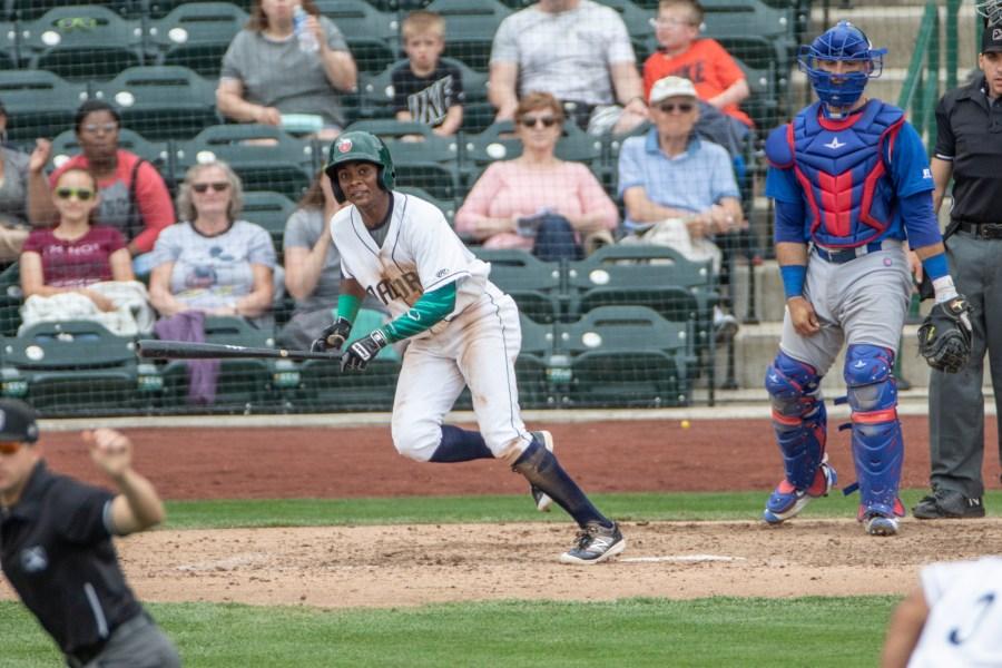 Esteury Ruiz Padres prospect batting for Fort Wayne TinCaps