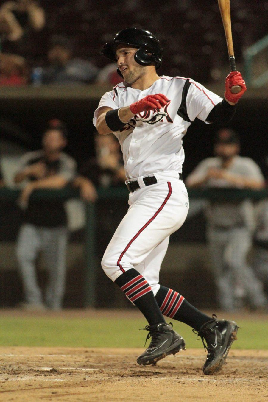 Luis Torrens, San Diego Padres prospect bats for Lake Elsinore Storm