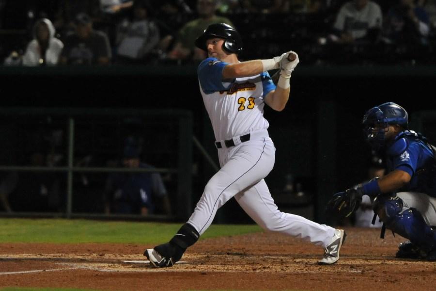 Owen Miller, Padres prospect bats for San Antonio Missions.