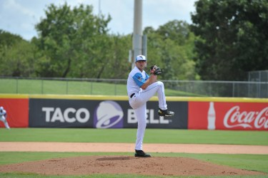 Nick Margevicius, Padres prospect pitching for Flying Chanclas de San Antonio