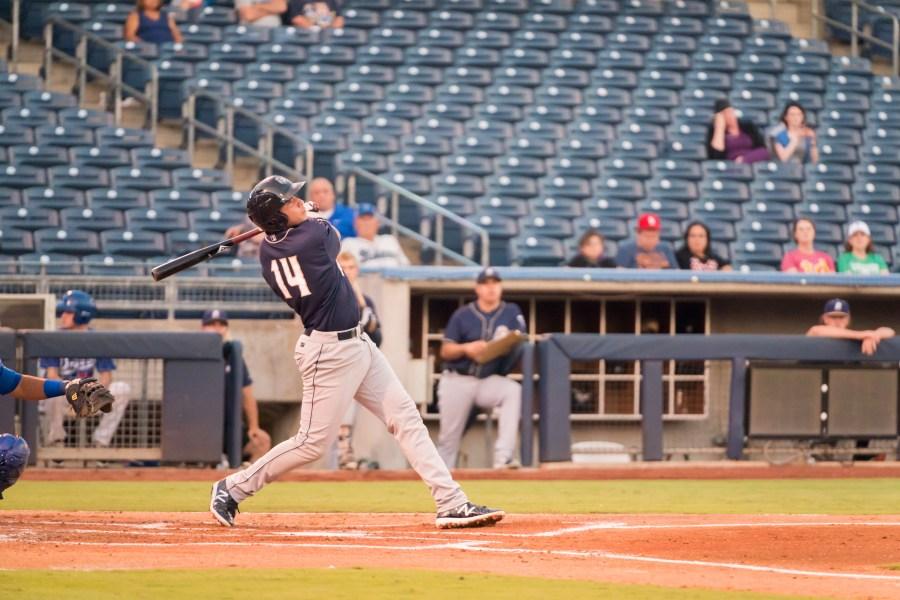 Padres prospect Hudson Potts bats for San Antonio Missions