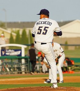 Angel Acevedo, San Diego Padres prospect pitches for Tri-City Dust Devils
