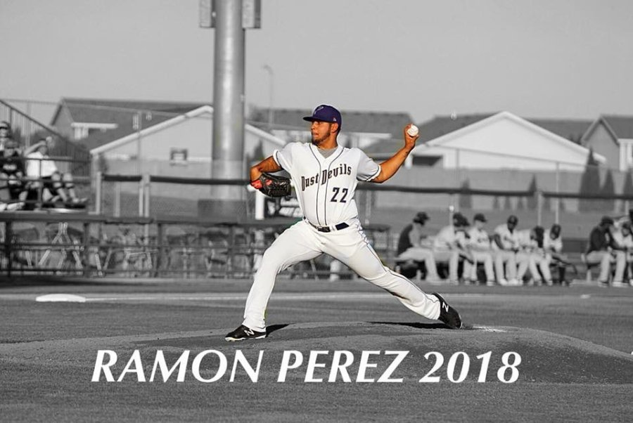 Ramon Perez, San Diego Padres prospect pitching for Tri-City Dust Devils