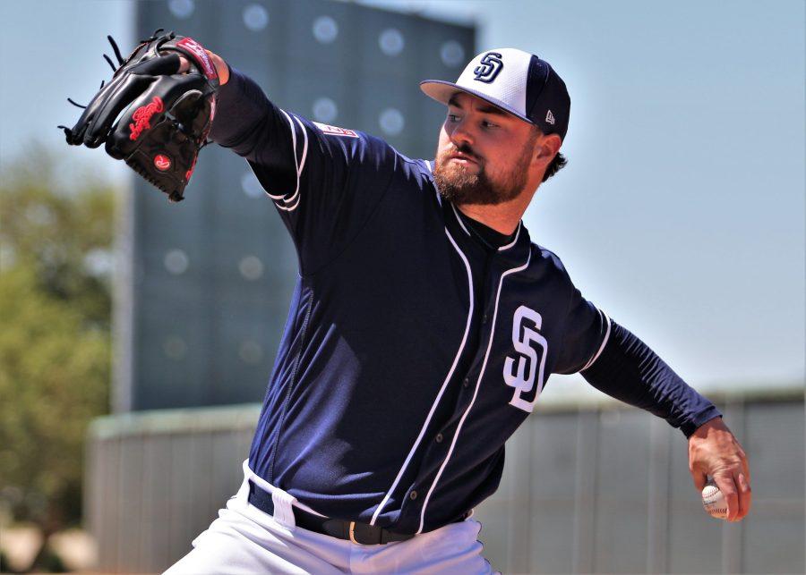 Padres pitcher Logan Allen in Spring Training 2019