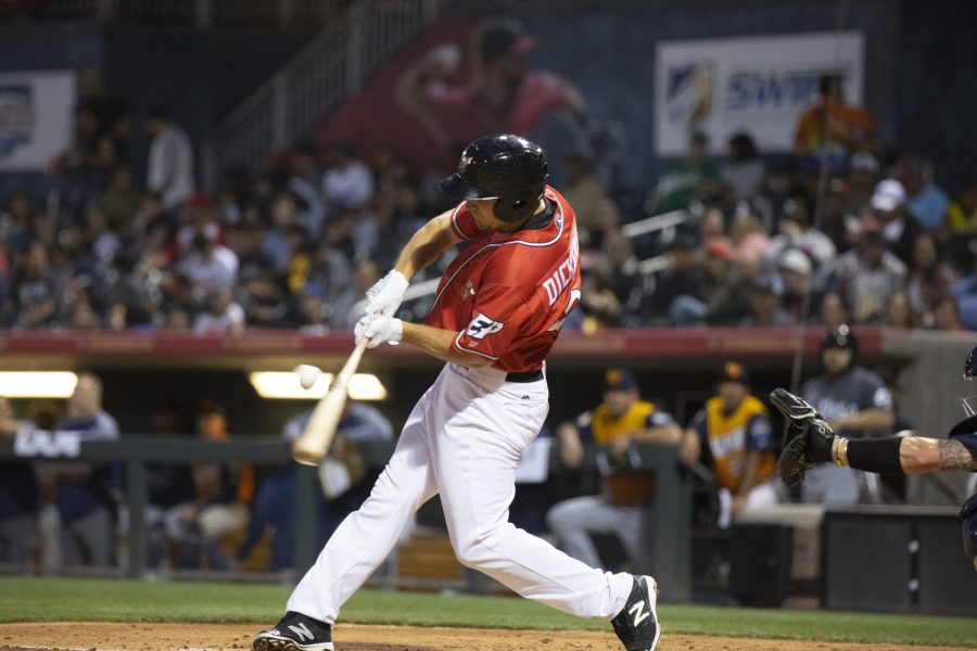 Padres prospect Alex Dickerson bats for El Paso Chihuahuas