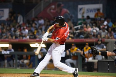 Padres prospect Alex Dickerson bats for El Paso Chihuahuas