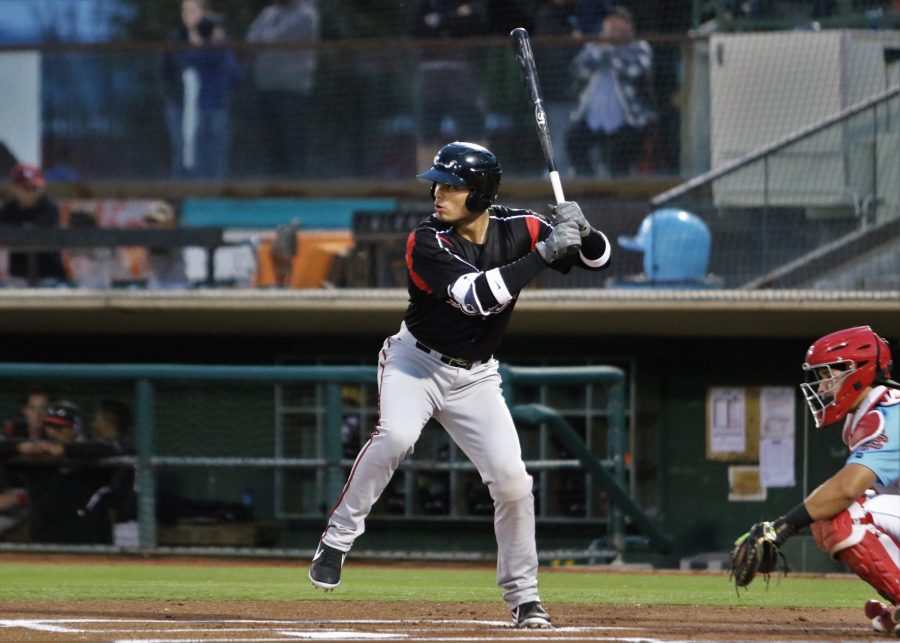 Tirso Ornelas, Padres prospect bats for Lake Elsinore Storm