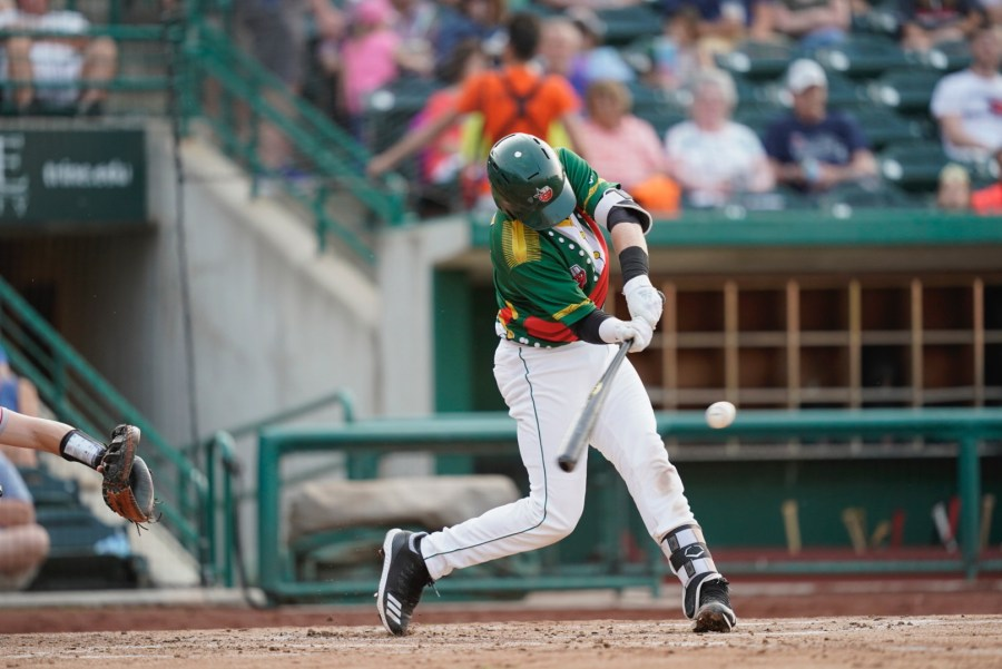 Padres outfield prospect Dwanya Williams-Sutton bats for Fort Wayne TinCaps