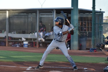 Padres prospect CJ Abrams bats in the AZL